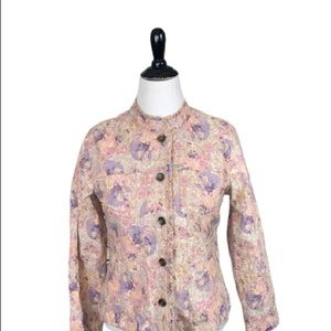 Analogy Floral Jacket Button Size Large